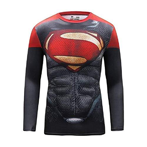 Inception Pro Infinite - Langarm - Shirt für Herren - Superman - Superheld - Sport - T/Shirt - Größe XL - Weihnachtsgeschenkidee