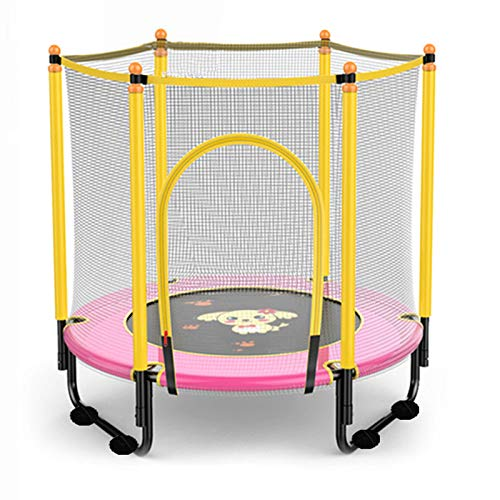 The new mini trampoline, 47-inch trampoline with safety net cover, indoor and outdoor children's activities, juvenile trampoline 0-6 years old,cartoon pictures
