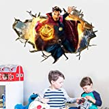 60X90CM Doctor Strange Avengers Spiderman Iron Man Captain America Thor Hulk Superman Vinilos De Pared Decorativos Pegatinas Pared Decorativas Vinilo Pared Obras De Arte Y Material Decorativo