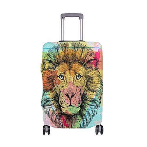 Copertura per valigia poligono acquerello leone super leggero per bagagli misura 18-32 pollici