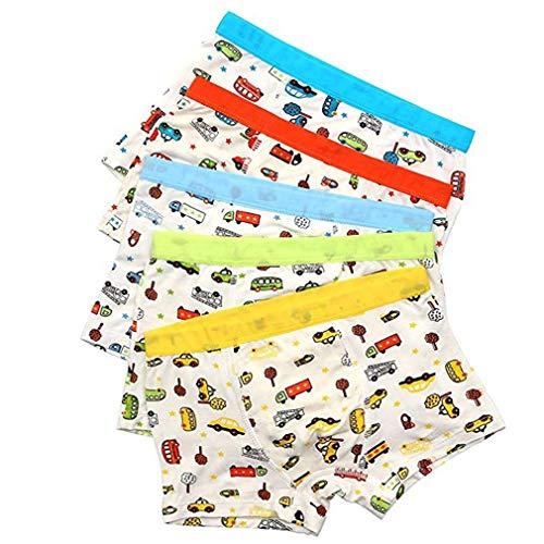 Zhongke Garçons Shorts Sous-Vêtements Bébé Coton Doux Sous-Vêtements Enfant Adolescent Motif De Voiture Pour Sous-Vêtements Petit Garçon