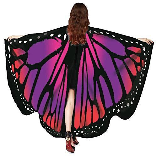 XdiseD9Xsmao vlinder vleugels sjaal cape sjaal dames lang nymphe pixie poncho Halloween party kostuum