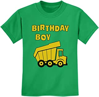 TeeStars - Birthday Boy - Truck Construction Party Idea Kids T-Shirt