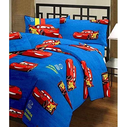 RajasthaniKart Polyester Cartoon Print Car Reversible Soft AC Blanket (20x10x10cm, Multicolour)