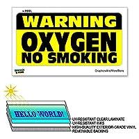 警告中×6で12 - - ラミネート酸素喫煙いいえ符号ウィンドウビジネスステッカー