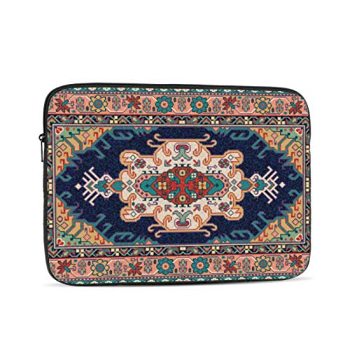 MacBook Cover 15 Inch Colorful Oriental Mosaic Rug Traditional Folk A1534 MacBook Case Multi-Color & Size Choices 10/12/13/15/17 Inch Computer Tablet Briefcase Carrying Bag