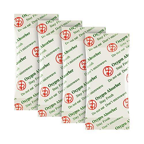O2frepak 100CC(100-Pack) Paquetes de Absorbentes de Oxígeno de Grado Alimenticio para Almacenamiento de Alimentos Secos y a Largo Plazo