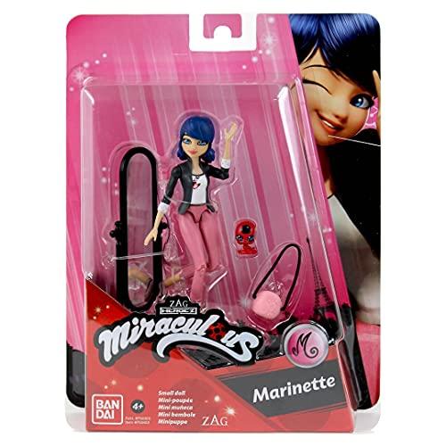 Bandai - Miraculous Ladybug. Mini-Bambola 12 cm. Marinette-P50402, P50402