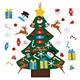 CABINAHOME DIY Felt Christmas Tree Ornaments, Xmas Gifts for Kids New Year Handmade Christmas Door Wall Hanging Decorations