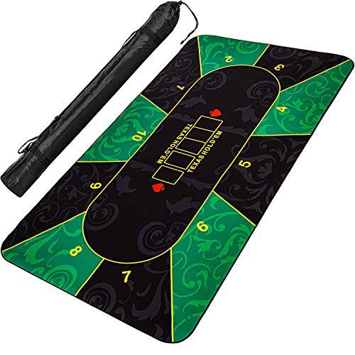 Maxstore XXL Pokermatte, bis zu 10 Spieler, Maße 200x9...