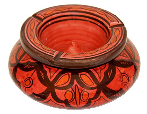 Moroccan Handmade Two-piece Ceramic Ashtray