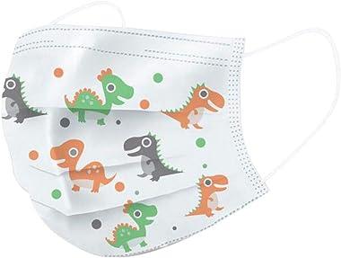 Children's Disposable Face Bandanas, Cartoon Print,3 Ply Non-Woven Ear Loop Face Cover For Children