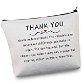 G2TUP Occupational Appreciation Cosmetic Bag Never Underestimate the Difference You Make Zipper Pouch for Social Worker Doctor Nurse Teacher (Occupational Appreciation Makeup Bag)