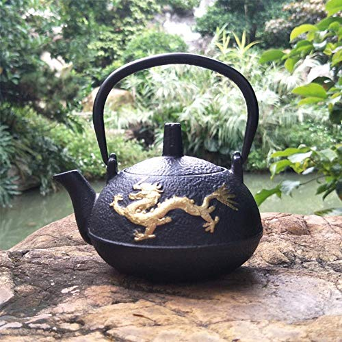 LHXS Koper geld ijzeren pot Japanse gietijzeren theepot retro kleine ijzeren pot oud geld goud ijzer pot
