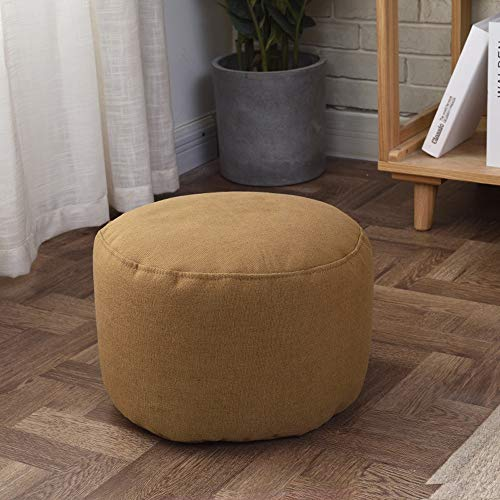 FLYFASH Decorative Pouf Cover, Ottoman, Bean Bag Chair, Footstool, Foot Rest, Soft And Comfortable Shoe Changing Stool, Fashionable And Creative Sofa Stool (Color : Brown)