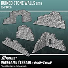 3D printed with eco-friendly PLA plastic, a role playing game model set 5 pieces of terrain buildings; perfect for a wargaming landscape! Paintable (primer recommended) Suitable for medieval, contemporary, and futuristic war game settings and battles...