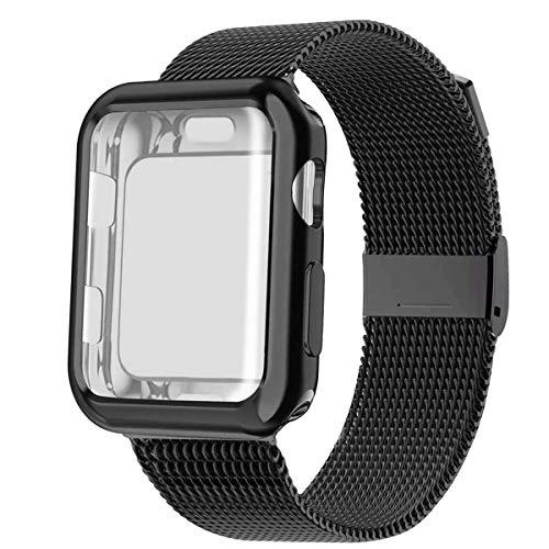 Compatible Cinturino per Appl Watch Cinturino 38mm 40mm 42mm 44mm, Maglia Milanese Cinturino in Acciaio Inossidabile Loop con Magnete Compatibile con Watch Series 5/4/3/2/1