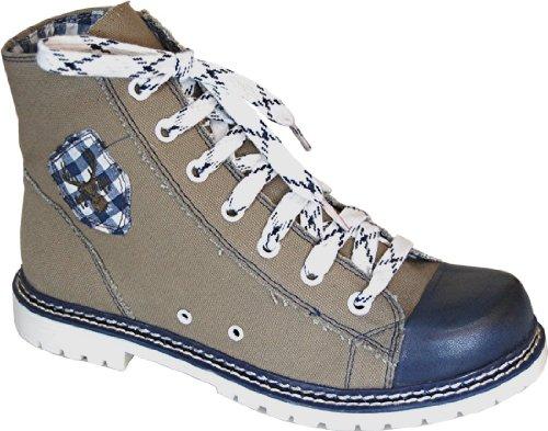 Spieth & Wensky Damen Trachten Canvas Sneaker, Boots Jacky - Farbe wählbar -, Größe:38;Farben:helloliv/Navy/d.blau
