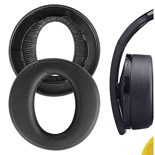 Geekria Earpad Replacement for Playstation Platinum Wireless Headset, PS4 Platinum Wireless Headset Ear Pad/Cushion/Ear Cups/Earpads Repair Parts (Black)