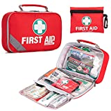 New design: 2-in-1 Premium First Aid Emergency Kit comes with 215 hospital grade items in a compact, flexible, durable design, weighing only 1.5 pounds and additional 43-Piece Mini 1st Aid Kit. Security & Reliability - Manufactured from the highest o...