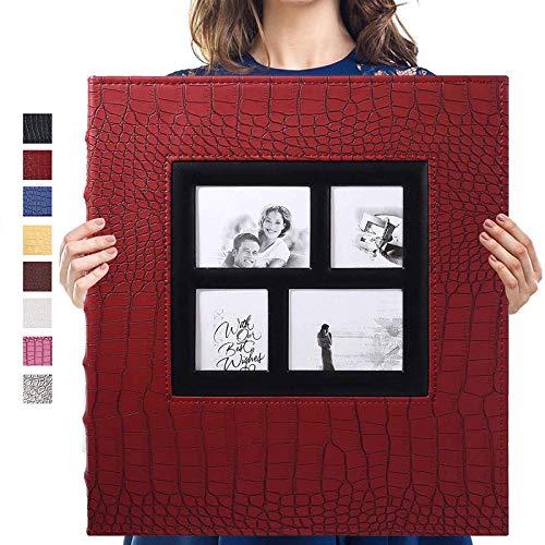 Vienrose Album de Fotos Sostiene Fotos de 10x15 600 Horizontales y Verticales Cubierta de Ccuero para el Aniversario de Bodas Familia Baby