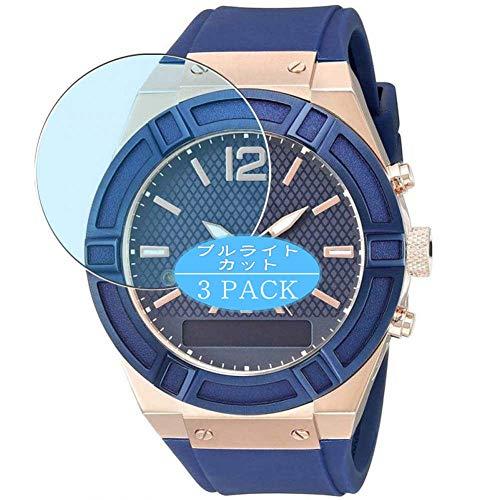 Vaxson Paquete de 3 protectores de pantalla anti luz azul, compatible con Guess Connect Smartwatch híbrido de 45 mm, protector de película de bloqueo de luz azul [no vidrio templado]