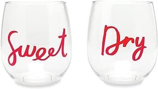 Kate Spade New York Women's Acrylic Wine Glass Set, Sweet & Dry