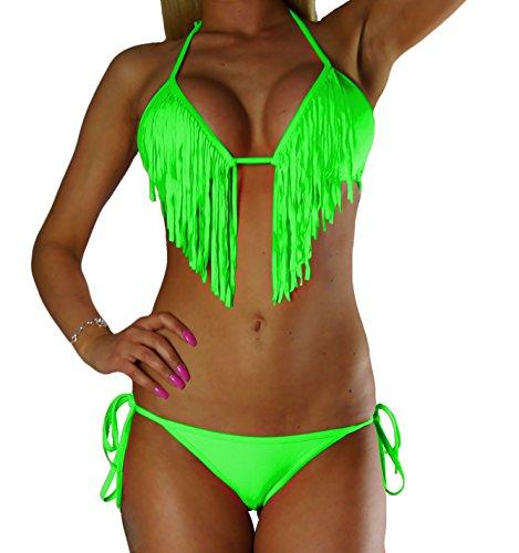 ALZORA Bikini Damen Fransen Tassel...