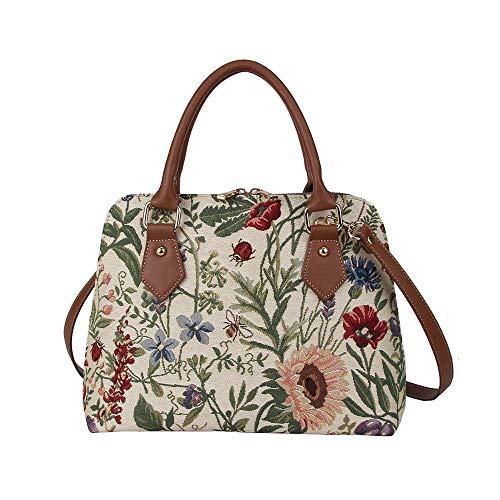 Tapestry Tote Satchel Shoulder Bag Morning Garden Floral by Signare