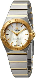 Constellation White Mother of Pearl Dial Ladies Steel and 18kt Yellow Gold Ladies Watch 131.20.25.60.05.002