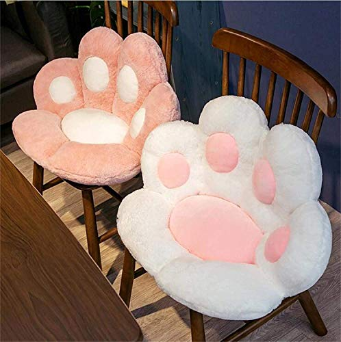 Reversible Armchair Seat Cushion Soft Cozy Bear Paw Shaped Chair Cushion Plush Comfort Seat Pad Office Cozy Warm Seat Pillow Relieves Back Coccyx Sciatica and Tailbone Pain Relief Chair Cushions