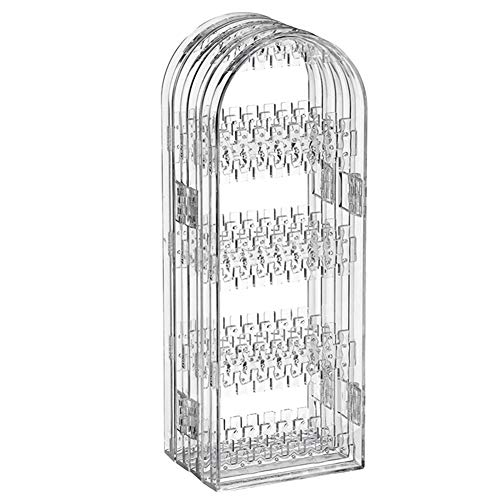 Suading Caja de almacenamiento de joyería clara Acrílico plegable collar soporte de exhibición de joyería transparente pendientes
