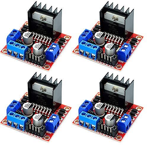 Greluma 4 Stk L298N Motorantrieb Controller Board Modul Doppel H Brücke DC Stepper Für Arduino