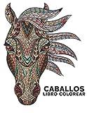 Caballos Libro Colorear: 50 Diseños de Caballos de Aliviar el Estrés Libro de Colorear una cara Libro de colorear para adultos Regalo para amantes de los caballos Libro de colorear para adultos