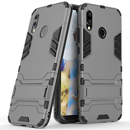 Fodral för Huawei P20 Lite/Huawei Nova 3e (5,84 tums skärm) Stöttåligt med Stöd Hybrid Dubbelt Lager Rustningsskydd Stötsäker Mobiltelefonfodral (Grå)