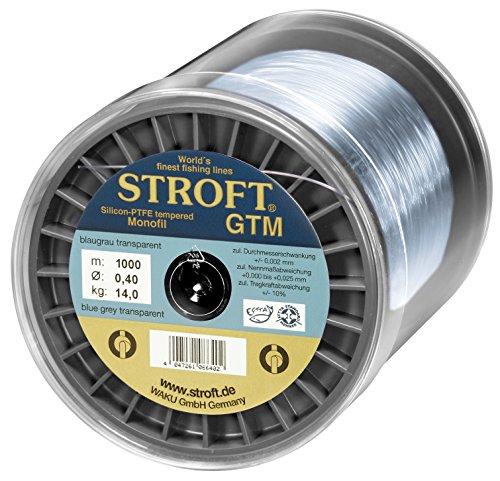 STROFT GTM 1000 m Monofile Angelschnur 0.03 mm bis 0.575 mm Blaugrau transparent (0,270mm-7kg)