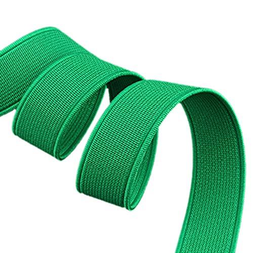 ModeFan Knit Elastic 1/2 inch Wide Green Heavy Stretch High Elasticity Elastic Band 17 Yards Long