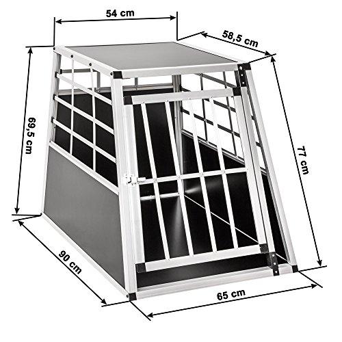 TecTake Alu Hundetransportbox -diverse Größen - 6