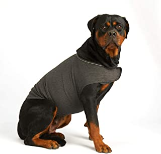 Furubaby Anxiety Dog Coat a Shirt Calm Down Dog Jacket for xs Small Medium Large XL Dogs   Solid Color Blue Gray Green Pink Thunder Dog Wrap(Dark Gray)