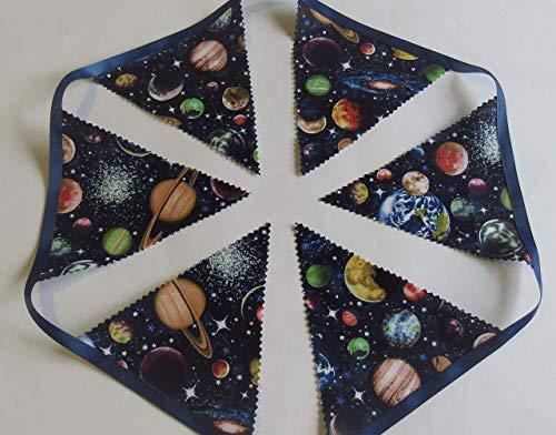 Planet space bunting, space garland, unisex space bedroom, Space playroom