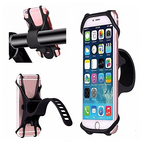 Cuitan Bicicleta Soporte de Bicicleta Universal para 4–6Pulgadas Smartphones iPhone 7Plus/5S Samsung Galaxy S8/S2Bicicleta Soporte para Bicicletas, Motocicletas, Roller, Cochecito–Negro
