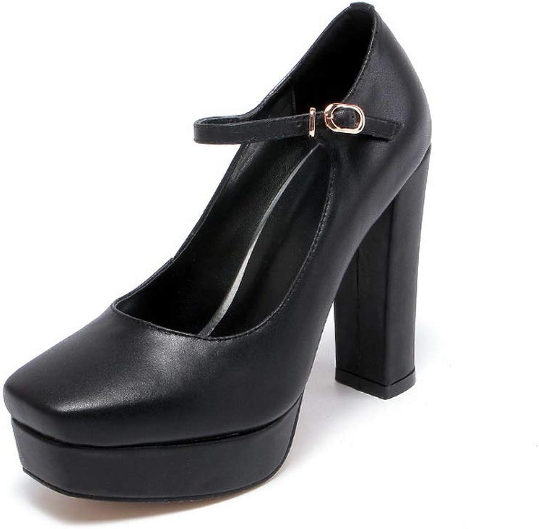 AdeeSu Womens Platform Travel Solid Urethane Pumps shoes SDC06101