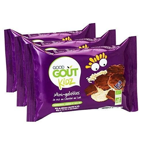 Good Goût Kidz - BIO - Mini Galettes au Chocolat au Lait 84 g - Lot de 3