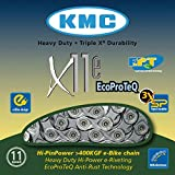KMC Chaîne 11Vitesses - x 11E - Pagination - Anti Rouille - 118GL. - pour E-Bike