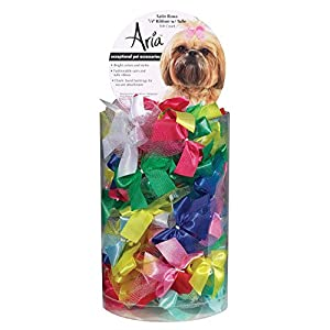 Aria Ribbon with Tulle Bows for Dogs, 100-Piece Canisters
