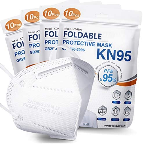 KN95 Face Mask 40 PCs Filter Efficiency 95 5 Layers Cup Dust Mask Masks Against PM2 5 from Fire product image