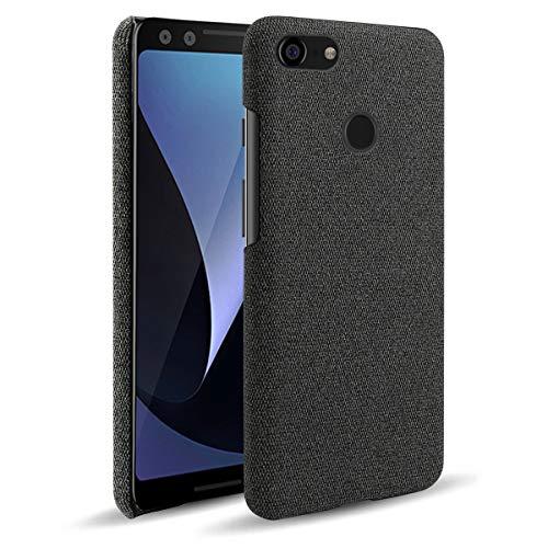 SHUNDA Capa para Google Pixel 3 XL, capa de proteção ultrafina de tecido de feltro antiimpressões digitais para Google Pixel 3 XL - preta