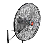 OEM TOOLS 30 Inch High-Velocity Outdoor Oscillating Wall Mount, New Model Commercial Fan, 30', Black
