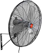 OEMTOOLS 24 Inch High-Velocity Outdoor Oscillating Wall Mount, New Model Commercial Fan, Black