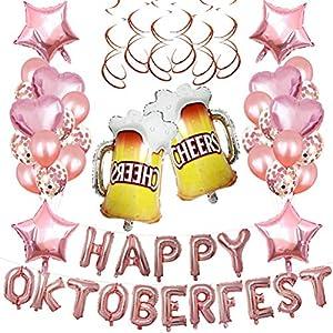 Toyvian - Juego de globos de helio para cerveza (40,6 cm), diseño de globos de helio con letras de Oktoberfest